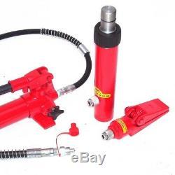 06174 Hydraulic Porta Power Jack 10t Ton Auto Car Van Frame Repair Tool Kit