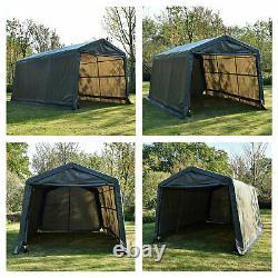10'x10'x8'/10'x15'x8'FT Storage Shed Tent Steel Frame Car Garage Shelter Carport