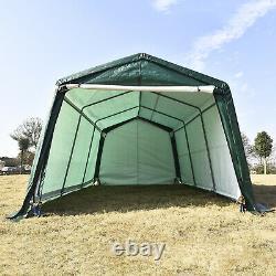 10'x15'x8' FT Carport Canopy Storage Shed Tent Car Shelter Garage Steel Frame