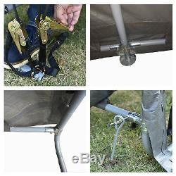 10'x15'x8' FT Storage Shed Tent Shelter Car Garage Steel Frame Carport Canopy