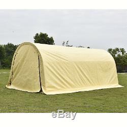 10'x20'x8' Beige Carport Canopy Tent Storage Shelter Car Garage Shed Steel Frame