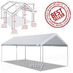 10' x 20' Heavy Duty Canopy Carport Portable Garage Tent Steel Frame Car Shelter