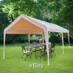 10' x 20' Steel Frame Canopy Shelter Portable Carport Car Garage WithCorner Cloth