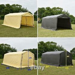 10x20 FT Storage Shed Tent Shelter Car Garage Steel Frame Carport Canopy Outdoor