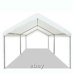 10x20 Heavy Duty Carport Garage Car Shelter Metal Frame Portable Color White