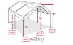 10x20 Outdoor Carport Canopy Car Shelter Frame Garage Cover Tent Portable Gazebo