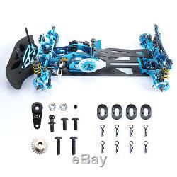 110 Alloy Carbon Fiber Frame Kit G4 For HSP HPI RC 4WD on Road Racing Car Blue