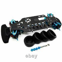 110 RC 4WD Alloy Metal & Carbon Racing Car Frame Kit For TAMIYA TT01 TT01E