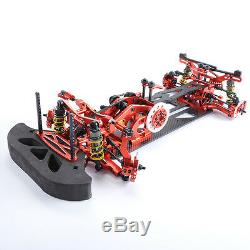 110 Scale Alloy & Carbon G4 RC 1/10 4WD Drift Racing Car Frame Kit Red