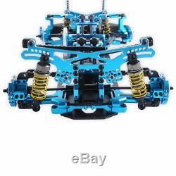 110 Scale Alloy & Drift Alloy Carbon Fiber 4WD Drift Racing Car Frame Kit Blue