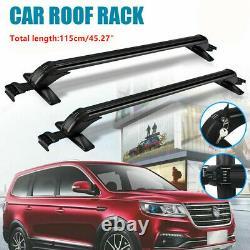 115CM/45.3 Car Roof Rack Sedan Luggage Carrier Cross Bar Window Frame Universal