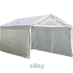 12 x 20 in Enclosure Kit White Car Outdoor (Canopy and Frame Not Included)