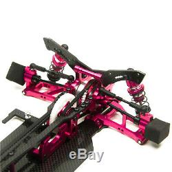 1/10 Scale Alloy & Carbon SAKURA XIS RC Racing Car Frame Body Kit with 4 Wheels