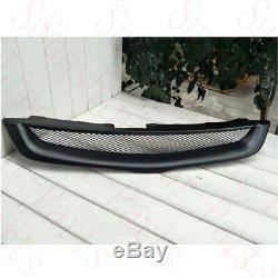 1xFor Honda Accord 2003-07 Car Black Resin Front Bumper Upper Grille Refit Frame