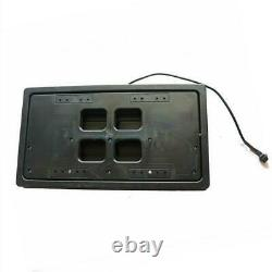 1x US Car License Plate Flip Number Swap Stealth License Plate Frame with Remote