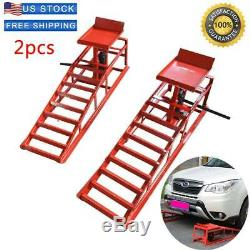 2PCS Lift Frame Repair Auto Service Heavy Car Lifts Duty Ramps Hydraulic