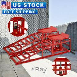 2PCS Lift Frame Repair Auto Service Heavy Car Lifts Ramps Hydraulic Duty New USA