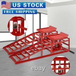 2PC Auto Home Car Service Duty Lifts Heavy Ramps Repair Hydraulic Lift Frame