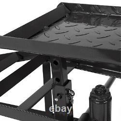 2PC Lift Frame Repair Auto Service Heavy Car Lifts Black Ramps Hydraulic 11000lb