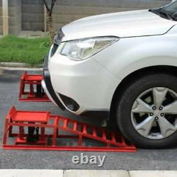 2X Auto Home Car Service Duty Lifts Heavy Ramps Repair Hydraulic Lift Frame USA
