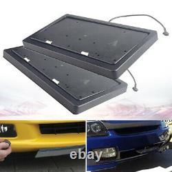 2X Electric Retractable License Plate Frame Fast moves with Remote Control USA Car