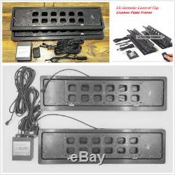 2 x Car Flip License Plate Frame Swap Shift Turn Blinds withRemote For EU Vehicles