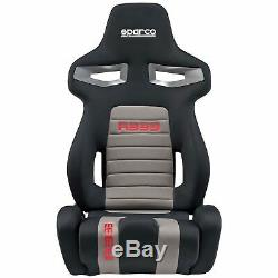 2 x Sparco R333 Forza Sport Track / Road Car Seats (Pair) Black / Grey / Red