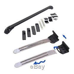 2pcs Car SUV Car Crossbar Rack Roof Rail Luggage Baggage Carrier Aluminum Frame