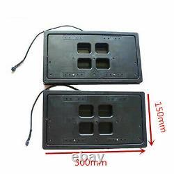 2pcs Electric Automatic Car Truck License Plate Flipper Hidden Flip Fin Frame