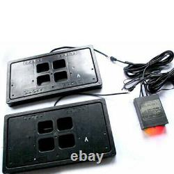 2pcs Electric Remote License Plate Frame Hidden Flip Fins Invisible for USA Car