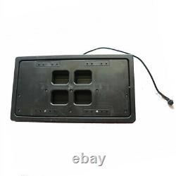 2x Flipper License Plate Frame USA Car Number Swap Shift Turn Blinds with Remote