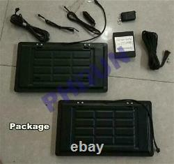 2x Hidden Flip Electric Car License Plate Frame Turn Over With Wireless Remote USA