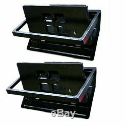 2x Hide-Away Car Electric License Plate Frame Flip Turn Over USA Type with Remote