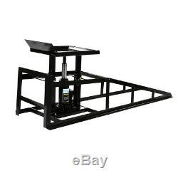 2x Hydraulic Vehicle Ramps 10,000lb. Capacity Portable Car Repair Frame Black US