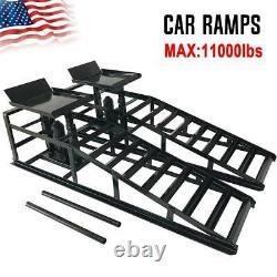 2x Lift Frame Repair Auto Service Heavy Car Lifts Duty Ramps Hydraulic 11,000lb