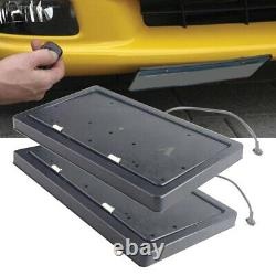 2x Remote Control Retractable Flip Car License Plate Frame Flipper for USA Car
