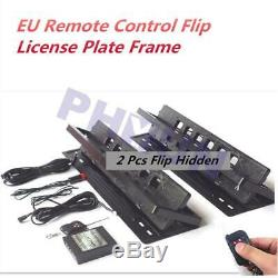 2x Remote Flipper Retractable Car Europe License Plate Frame EU Number Swap Flip