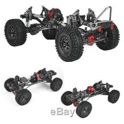 313 CNC Metal and Carbon Fiber Body Frame with Bumpers for 1/10 RC Crawler Cars