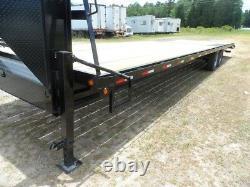 34 car hauler equipment utility trailer 2/3 wood deck gooseneck I beam Frame NEW