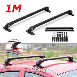 47 Aluminum Car Top Roof Luggage Rack Cross Bar Carrier Adjustable Window Frame