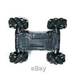 4WD 97mm Mecanum Wheel Robot Car Fiberglass Chassis Kit for Arduino Raspberry Pi