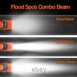 52+32'' inch Curved LED Light Bar Spot Flood Driving Offroad For GMC Dodge Ram