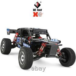 60Km/h Wltoys 124018 High Speed RC Car 1/12 4WD Off-road Crawler Metal Chassis