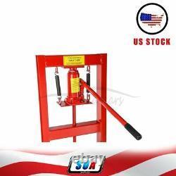 6 Ton Shop Press Hydraulic Jack Bench Top Mount H-Frame Plates Manual Equipment