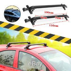 75KG Aluminum Car Top Luggage Roof Rack Cross Bar Carrier Window Frame AntiTheft