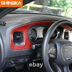 7inch Car Center Control Dashboard Panel Cover Trim For Dodge Charger 2015-2020