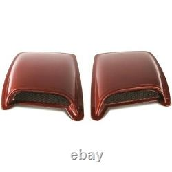 80002 Ventshade Set of 2 Hood Scoops New Black for Chevy Le Sabre Ram Truck Pair