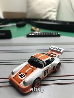 Afx Aurora Porsche 934 org/white mega g chassis slot car very rare