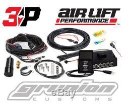 Air Lift 3P Digital Air Bag Ride Suspension Pressure Control System 1/4 Slammed