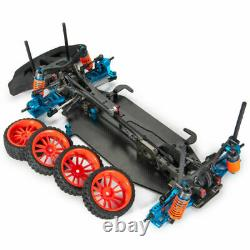 Alloy Carbon 1/10 4WD Drift RC Racing Car Frame Body Chassis Kit Shaft Drive